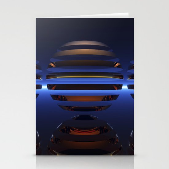 Split Spheres (Night) Stationery Cards