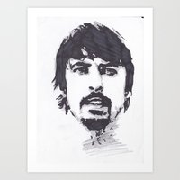 dave grohl Art Prints featuring Dave Grohl by Chris Bird