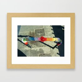 Rainbow Knit Framed Art Print