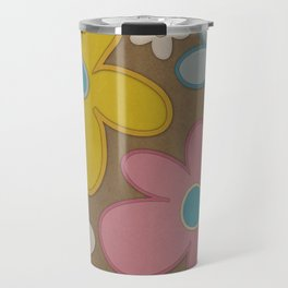 Faded Flower Travel Mug