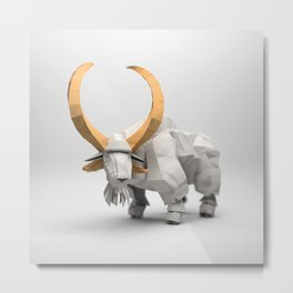 The Paper Fox : Goat Metal Print