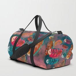 """""""Feathers blowing in the wind"""" Duffle Bag"""