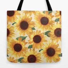 Happy Yellow Sunflowers Tote Bag