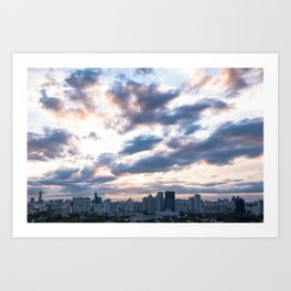 Seoul skyline at Dusk, South Korea Art Print