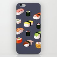 sushi iPhone & iPod Skins featuring Sushi by Skrich