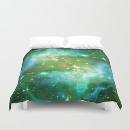 Tiny Lens Textured Nebula Duvet Cover
