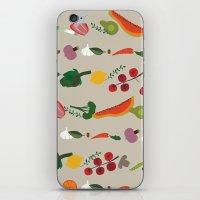 vegetarian iPhone & iPod Skins featuring Vegetarian pattern by Darish