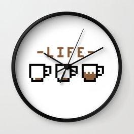Coffee Life Funny Caffeine Lover Wall Clock