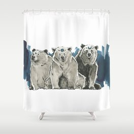 The Bear Clan Shower Curtain