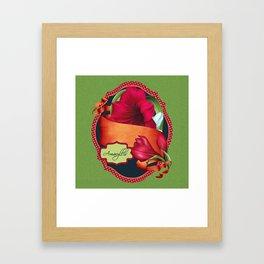 Tropical Amaryllis Framed Art Print