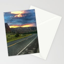 North Fork Hwy Sunset Stationery Cards