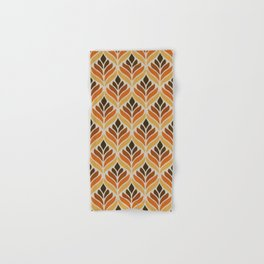 Retro Flower Pattern Hand & Bath Towel