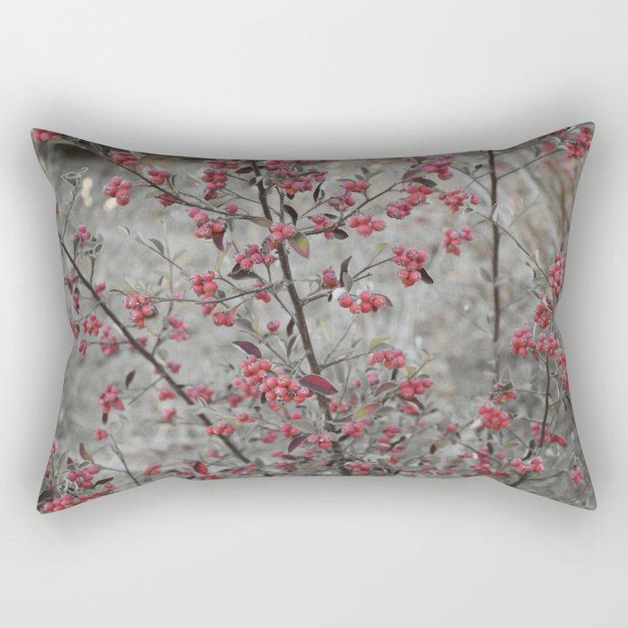 Red Wild Berries in Oakland Rectangular Pillow