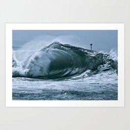 The Wedge Blue Barrel  Art Print