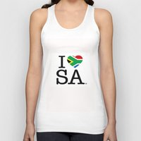 south africa Tank Tops featuring I LOVE SOUTH AFRICA by ROGUE AFRICA