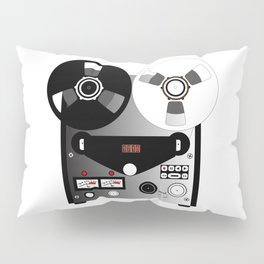 Black and White Recorder Pillow Sham
