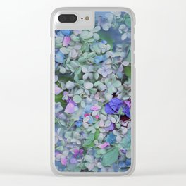 Hydrangea Heaven Clear iPhone Case