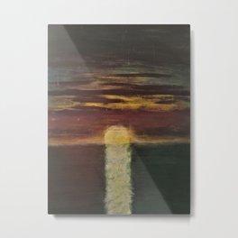 SUNSET ON OPEN WATER Metal Print