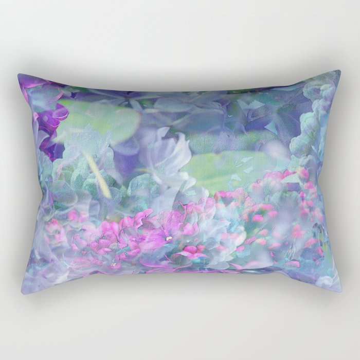 Lilac Bloom Rectangular Pillow
