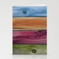 wooden Stationery Cards featuring Wooden Rainbow by Nicklas Gustafsson