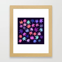 Pink Hempy Leaves Framed Art Print