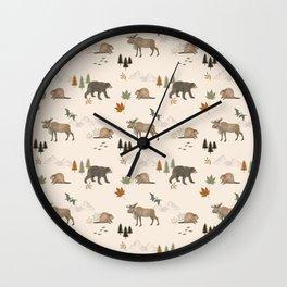 Canadian wildlife Wall Clock