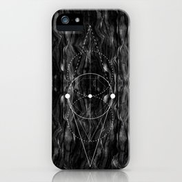 Mixed geometry texture iPhone Case