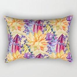 Succulent Neck Gator Orange Succulents Rectangular Pillow