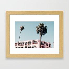 Pink Building Downtown Santa Monica California Framed Art Print
