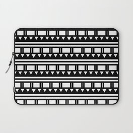 Hopi Stripe - Black and White Laptop Sleeve