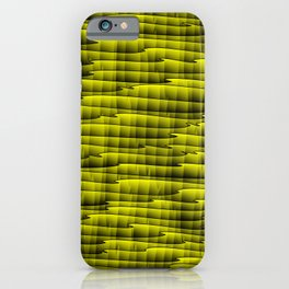 Square cross yellow lines on a dark tree. iPhone Case