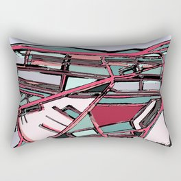 Abstract Map- Fenway Park Rectangular Pillow