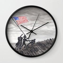 Raising the flag at Iwo Jima Wall Clock