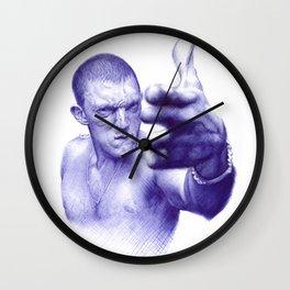 Vinz on ballpen Wall Clock