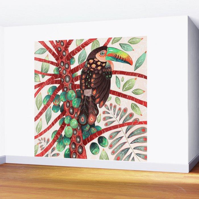 Toucan In A Fruit Tree Wall Mural