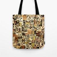 alphabet Tote Bags featuring Alphabet by Kerri Swayze