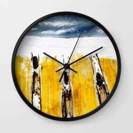 Three Flying Figures Wall Clock