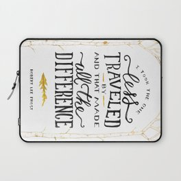 The Road Not Taken By Robert Frost Laptop Sleeve