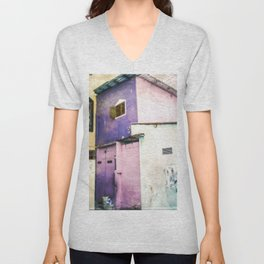 Aquarelle City Unisex V-Neck