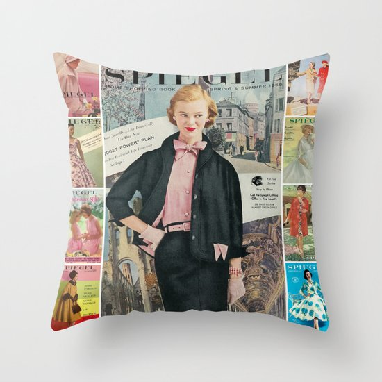 1955 Spring/Summer Catalog Cover Throw Pillow