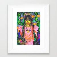 fka twigs Framed Art Prints featuring FKA TWIGS  by Happy as Flynn