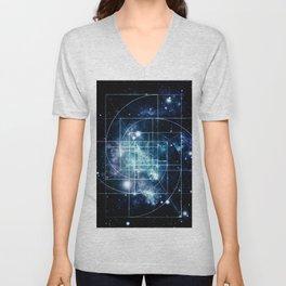 Galaxy Sacred Geometry: Golden Mean Unisex V-Neck