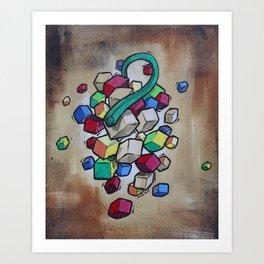 Cubist Grapes Art Print