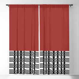 Red Brick And Lace Blackout Curtain