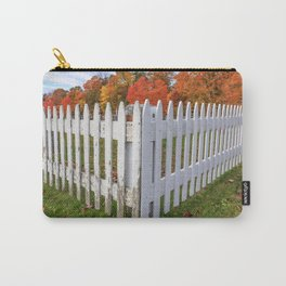 White Picket Fence Carry-All Pouch