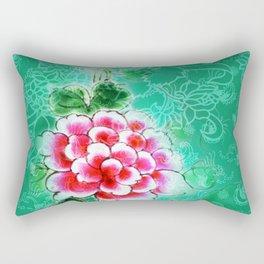 Peranakan Peony Rectangular Pillow
