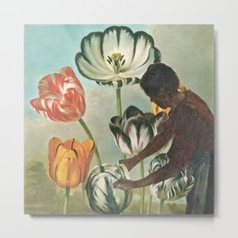 In The Garden With Degas Metal Print