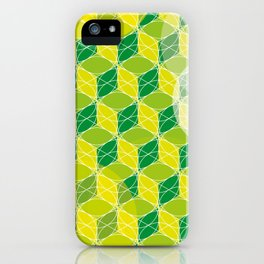 Green Isometric Pattern iPhone Case