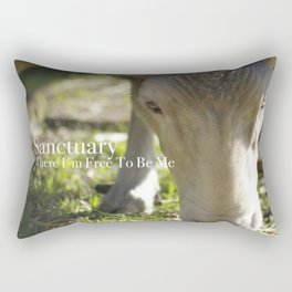 Mary @ Happy Hooves Farm Sanctuary Rectangular Pillow