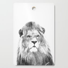 Black and white lion animal portrait Cutting Board